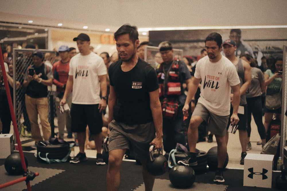 Blogger Dale Palisoc tries out the Test of Will Challenge by Under Armour